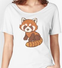 Red Panda Women's Relaxed Fit T-Shirt