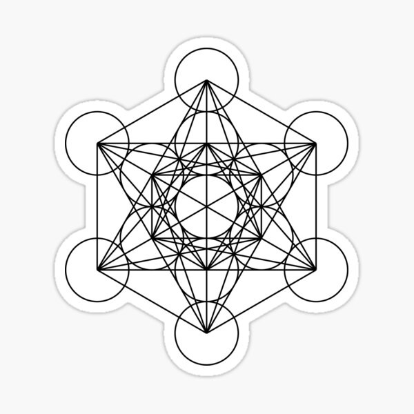Metatron's Cube - Sacred Geometry Sticker