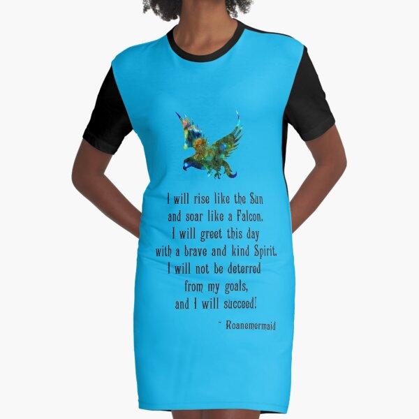 Success Affirmation Graphic T-Shirt Dress