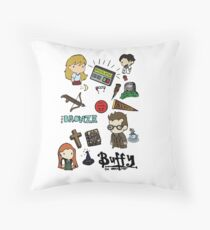 buffy etc. Throw Pillow