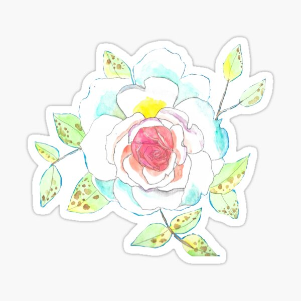 Favorite Rose Watercolor Sticker