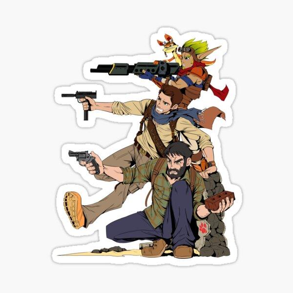 Naughty Dog - Drake, Joel, Jak Sticker