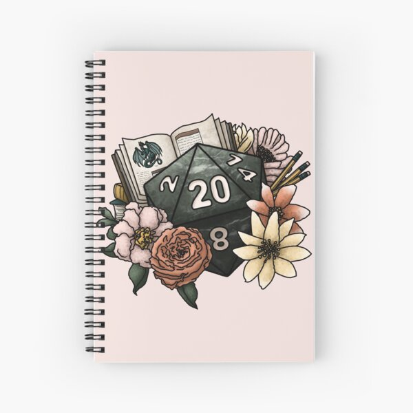 Dungeon Master D20 - Tabletop Gaming Dice Spiral Notebook