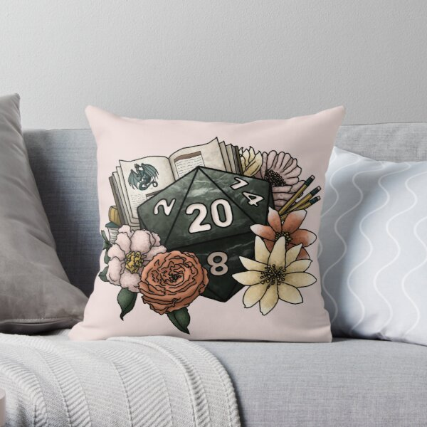 Dungeon Master D20 - Tabletop Gaming Dice Throw Pillow
