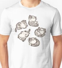 Impudent cats relax Unisex T-Shirt