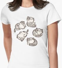 Impudent cats relax Womens Fitted T-Shirt