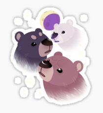 Three Bear Moon Sticker