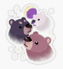 Three Bear Moon Transparent Sticker
