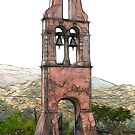 Belfry of the Church of Saint Lakovo of Persi, Corfu by RebeccaWeston