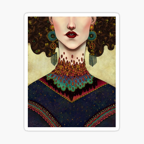 Klimt Muses 2 Sticker