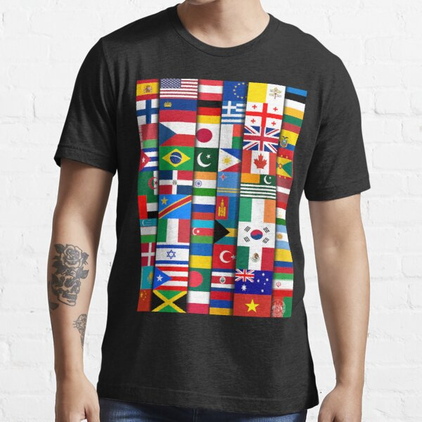 60 Flags of the Countries of the World, International Gift Essential T-Shirt