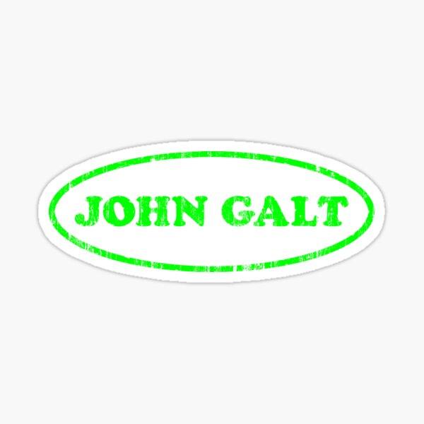 Libertarian rand Atlas Shrugged Bumper Oval WHO is John GALT Sticker