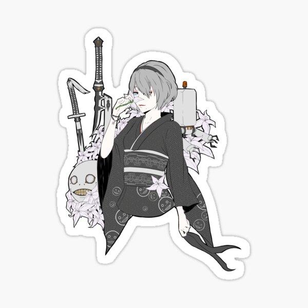 2B Kimono (Nier Automata) Sticker