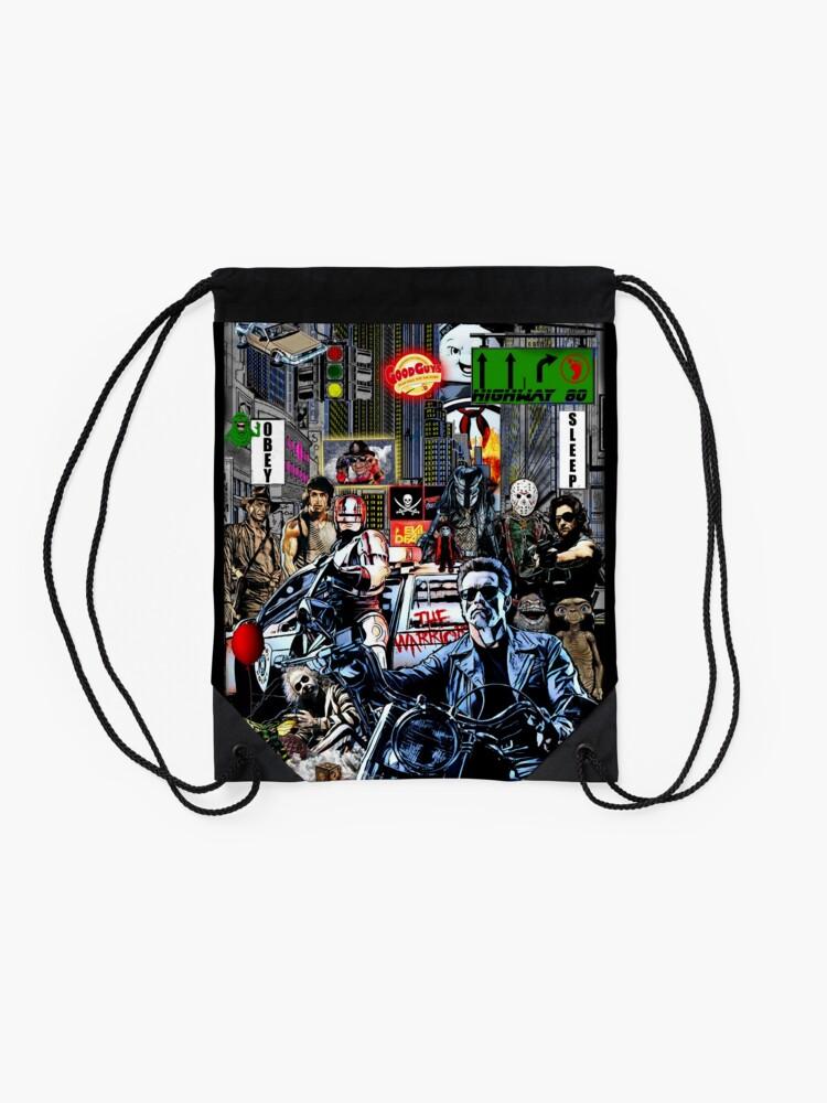 Alternate view of the 80s Drawstring Bag