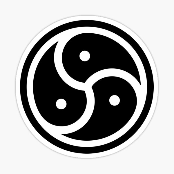 Symbole de BDSM Triskelion Sticker