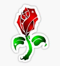 Cracked Rose Sticker