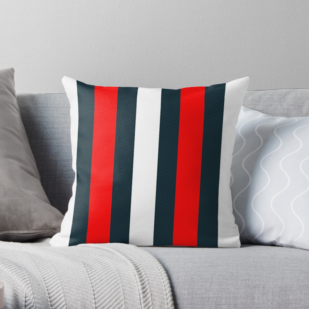 Red White Vertical Pattern Stripes Throw Pillow