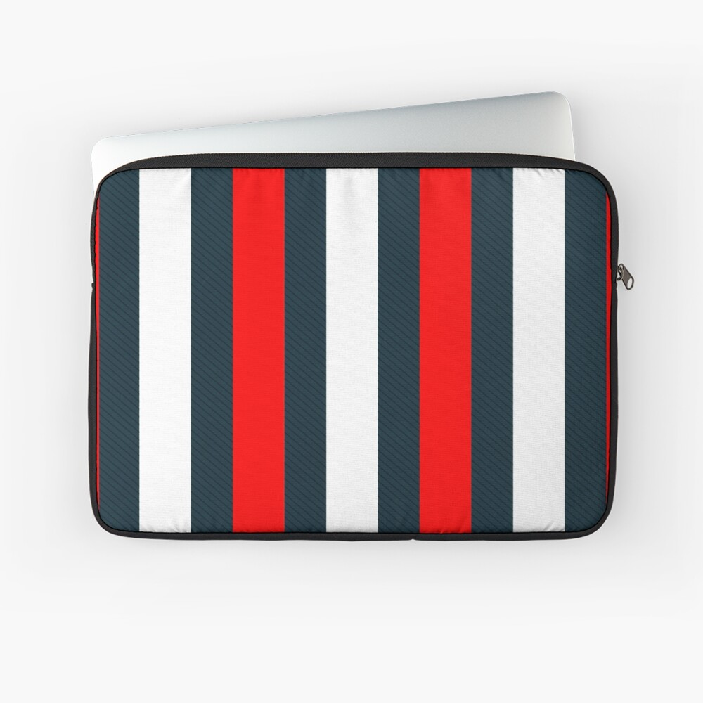 Red White Vertical Pattern Stripes Laptop Sleeve