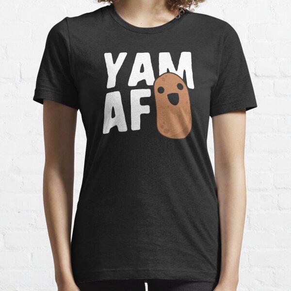 Yam AF Funny Potato T-Shirt Vegetarian Food Humor Kawaii Essential T-Shirt