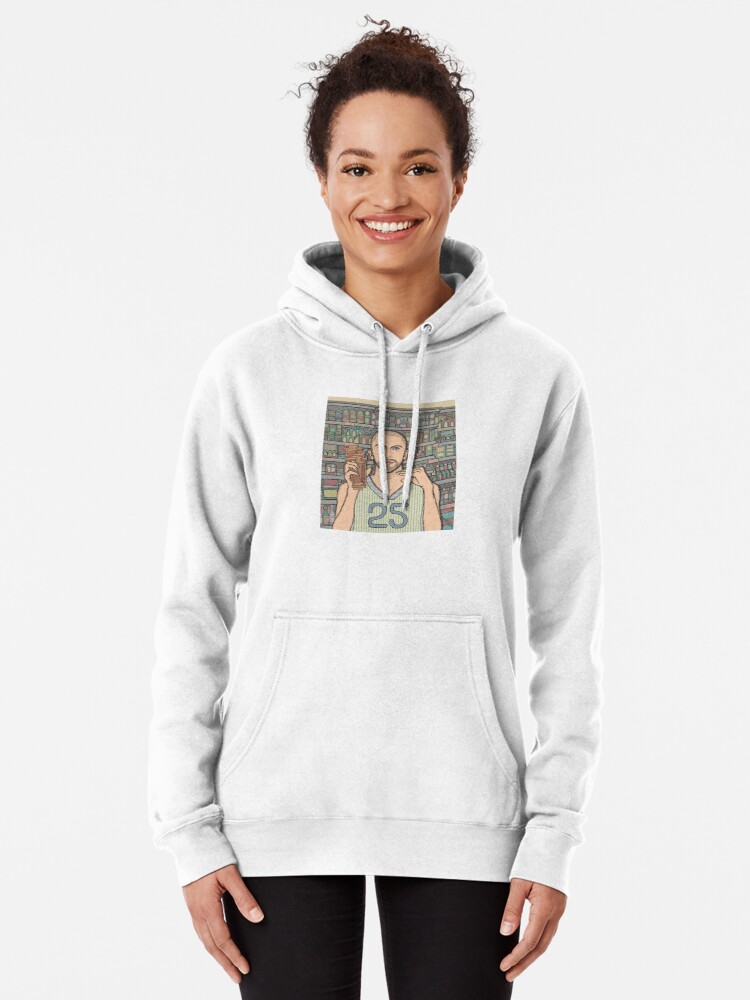 Alternate view of I saw Steve B at a grocery store Pullover Hoodie