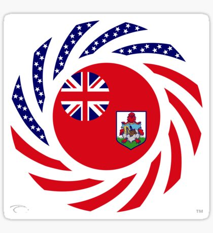 Bermudan American Multinational Patriot Flag Series Sticker