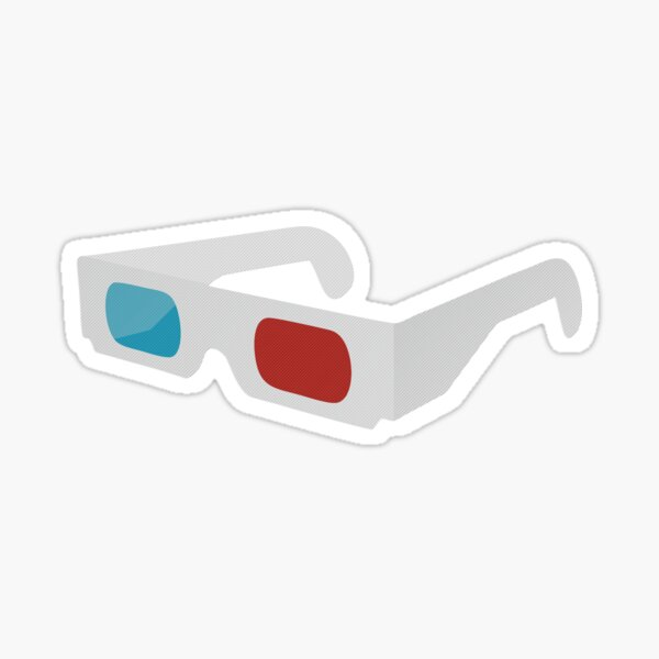 anaglyph stereographic 3D glasses Sticker