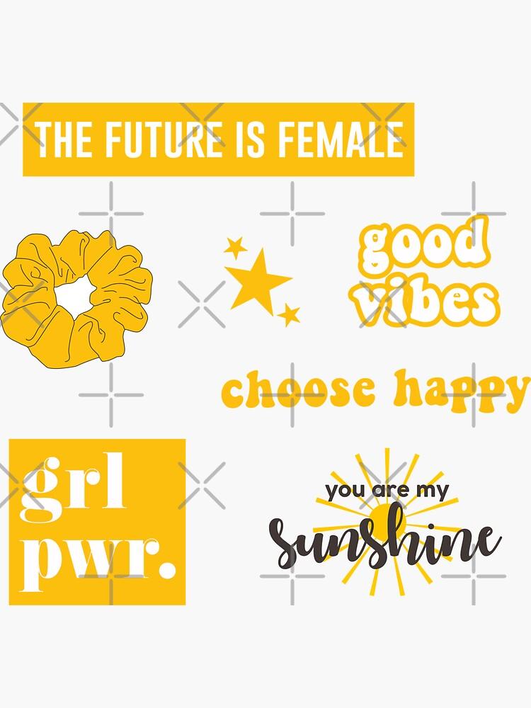 Yellow Sticker Pack by abbyjane325