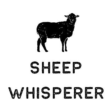 Farming Shirt Sheep Whisperer Black Cute Gift Farm Country USA by threadsmonkey