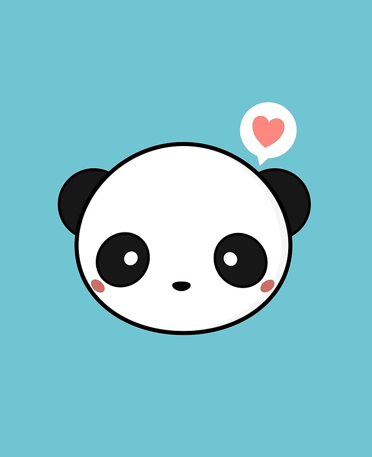 Kawaii Cute Panda Ipad Case Skin By Wordsberry Redbubble