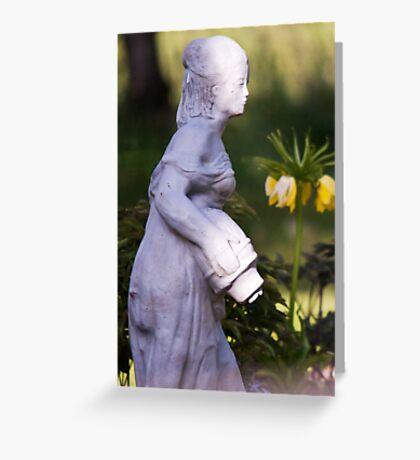 Watering Girl Greeting Card