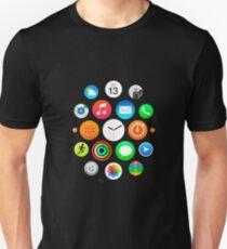 Camiseta ajustada Apple Watch Face - Aplicaciones