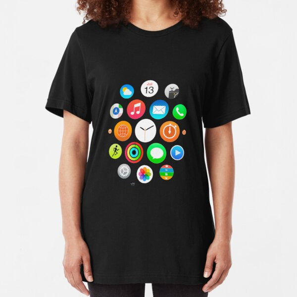 Apple Watch Face - Apps Slim Fit T-Shirt
