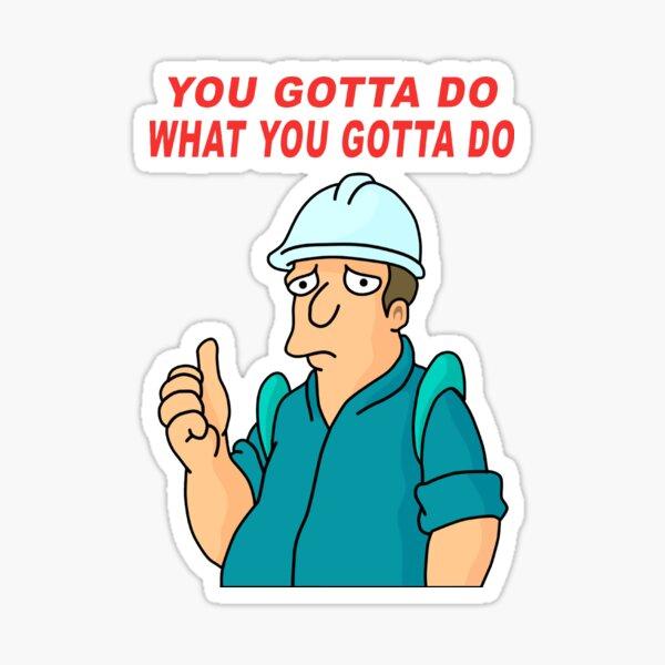 Ultimate Work T-shirt Sticker