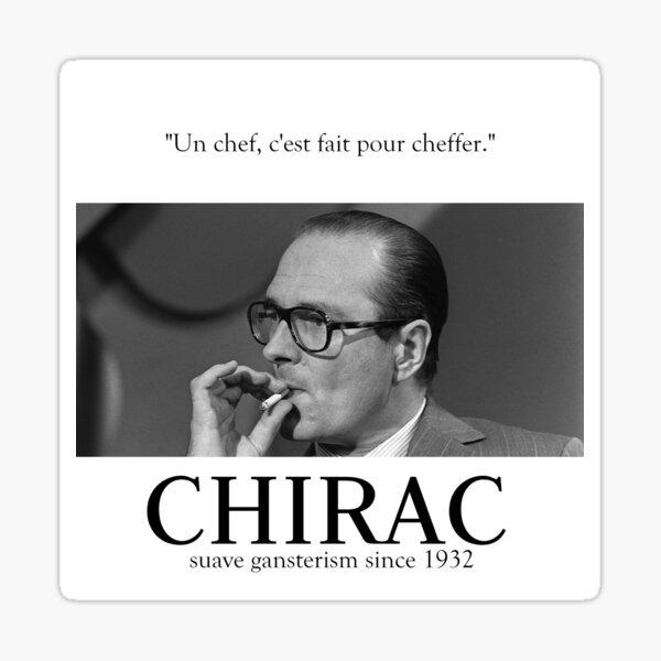 Fuck Oui Jacques Chirac Sticker