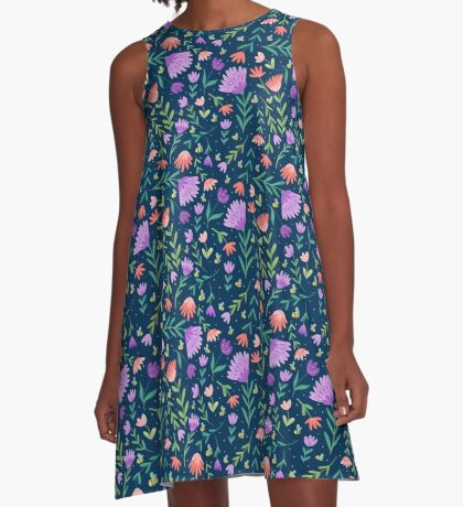 Flowers + Bees A-Line Dress
