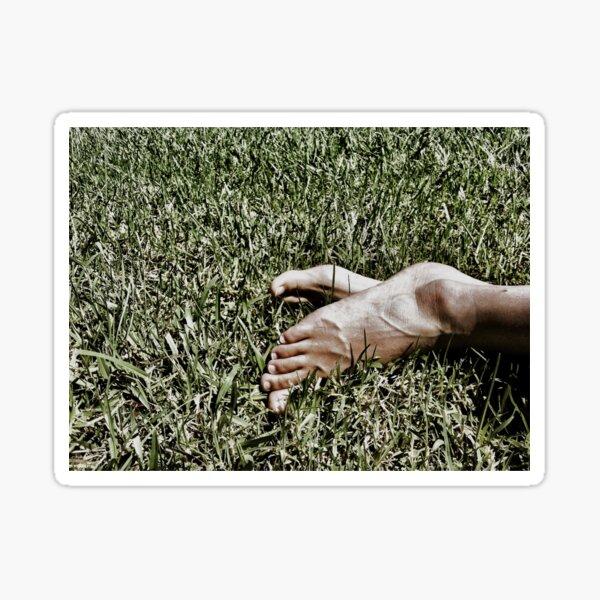 Sunny toes in the grass Sticker