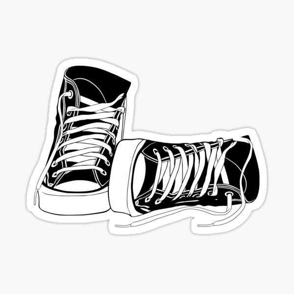 Classic High Tops Sticker