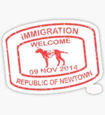 Republic of Newtown - 2014: Red Sticker