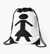 NT Woman - White Drawstring Bag