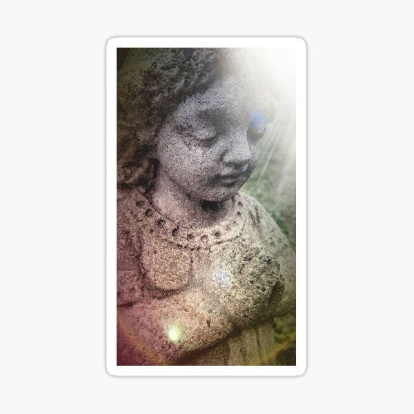 Praying Beauty in Boothbay Sticker