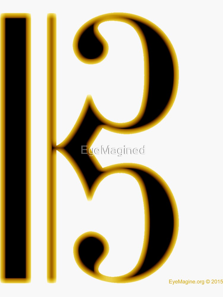Gold Viola Clef by EyeMagined