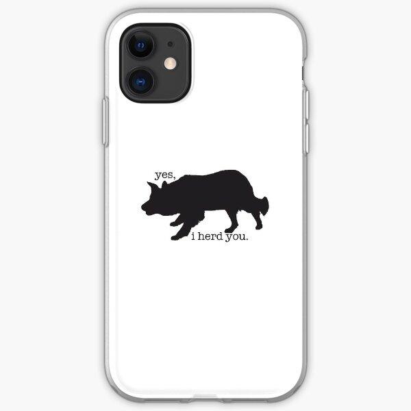 border collie herding sticker  iPhone Soft Case