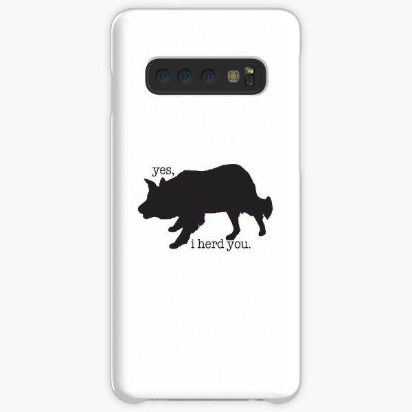 border collie herding sticker  Samsung Galaxy Snap Case