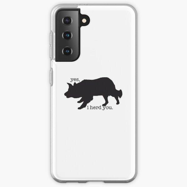 border collie herding sticker  Samsung Galaxy Soft Case