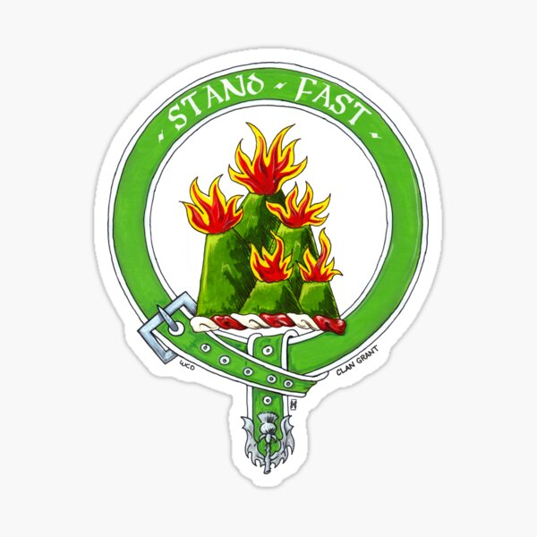 Clan Grant Scottish Crest Sticker