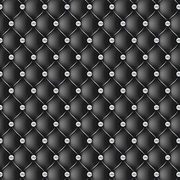 Elegant Black Diamond Tufted Look Upholstery Pattern by jollypockets