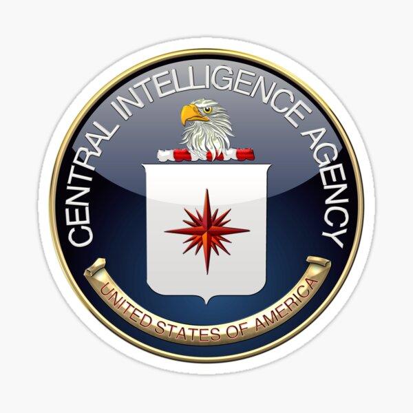 Central Intelligence Agency - CIA Emblem 3D on Blue Velvet Sticker