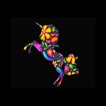 Unicorn flowers by KaylinArt