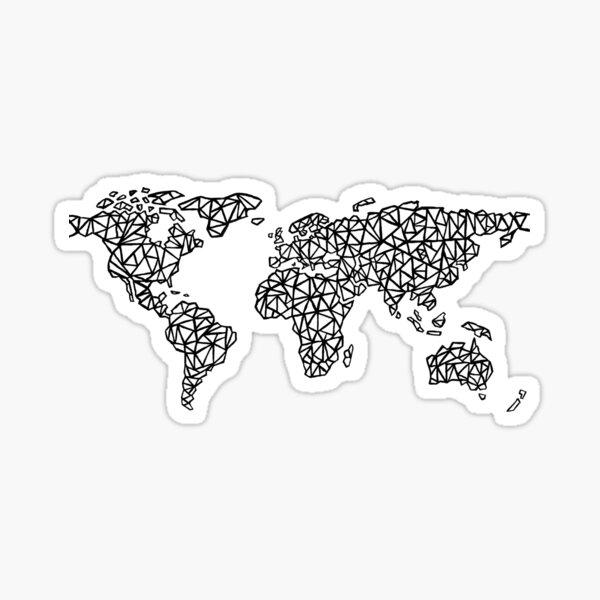 World Map white Sticker