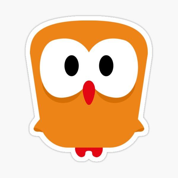 eule gelb, owl Sticker